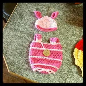 Girly Piglet photo prop/costume